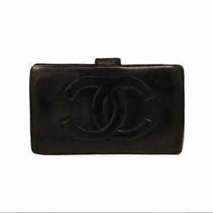 Authentic Chanel Lambskin Long Wallet